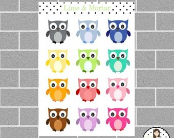Bright Owl Planner Stickers