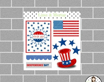 Independence Day Planner Stickers