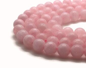 10mm Natural Rose Quartz Beads Round 10mm Rose Quartz 10mm Quartz Rose Beads Quartz Rose 10mm Quartz Beads 10mm Pink Beads 10mm Pink Beads