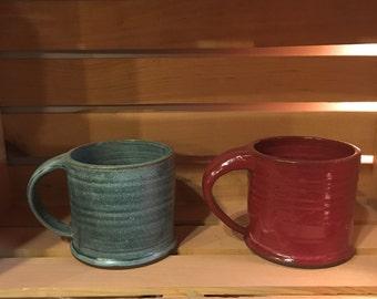Wheel-Thrown Pottery Mugs
