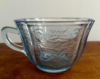Pressed glass tea cups