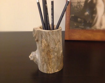 Driftwood Pencil Caddy