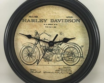 CLASSIC V-Twin Victory Motorcycle Wall CLOCK