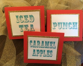 Food and drink signs (Set of 5)