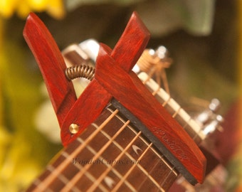 Bloodwood ~ Wooden Guitar Capo ~ Adjustable Tension ~ WoodenK ~ (Acoustic, Electric, Classical, Banjo & Ukulele)