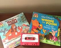 Disney Fox & Hound, Winnie the Pooh, book and cassette set