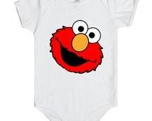 Sesame Street Elmo Onesie, Sesame Street Elmo Bodysuit, Baby Onesies cute ,Gift baby onesies