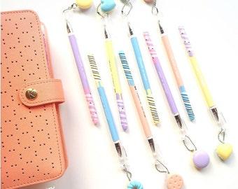 Cute Pastel Macaron Charm Pen