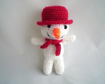 Crochet Snowman / Christmas Snowman / Amigurumi snowman / Christmas Snowman Toy / Christmas Decoration / Stocking Filler / Crochet Plush Toy