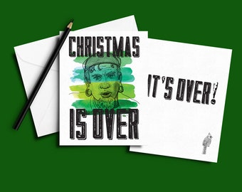 Christmas is OVER! Portlandia-inspired Xmas Card