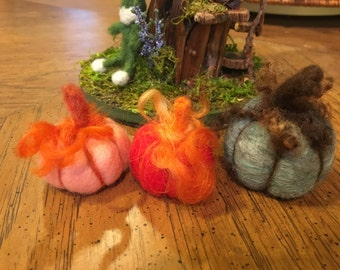 Needle Felted Pumpkin - Choice of One