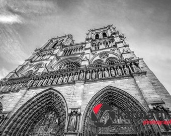 Notre Dame Photograph, Cathedral, Paris, France, Travel, Landscape, Print, Travel, Wall Art, Home Decor