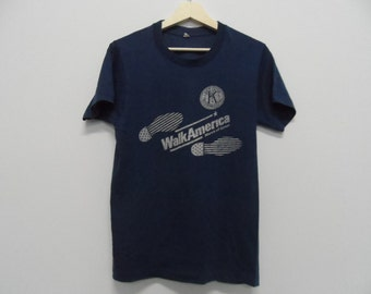 Vintage 1980s Walk America March of Dimes t shirt 50/50 small size