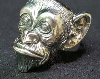 Sterling Silver Monkey Ring. Sterling Silver Ring. Monkey Ring. Animal Ring.
