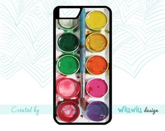 Watercolor set Art Color Watercolours with brush Beautiful Artist gift case for iPhone 4 4s 5 5s 5c 6 6+ 6s 6s+ 7 7+ phone cover for iPhone