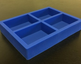 Silicone Soap Mold 4 Cavity