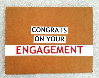 Engagement card / Congratulations card / Wedding card / Congrats card / card for couple / congrats on your engagement