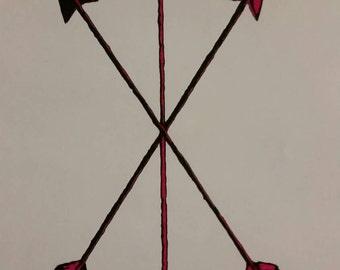 Arrow Drawing. Handmade
