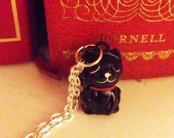 Lucky Black Cat Bell Necklace