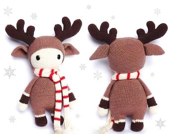 REINDEER Crochet Pattern, Timmy
