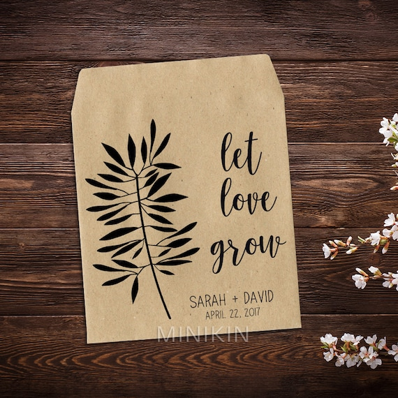 Wedding Seed Packet Favor Seed Packet Personalized Favor