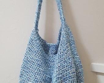 Basic Crochet Bag - Crochet Purse - Reusable Grocery Bag - Weekend Bag - Handmade Purse - Market Bag - Shopping Bag