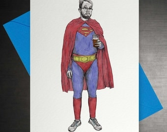 Superman Pint Card