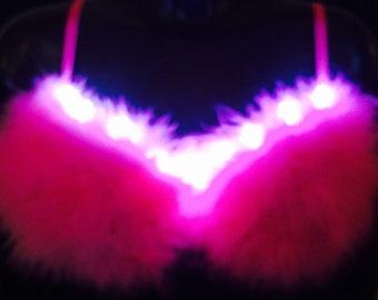 Designer LED light up Rave Bra 34c Clubwear EDC Party
