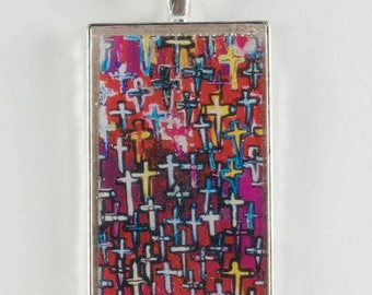 The way of the cross pendant square