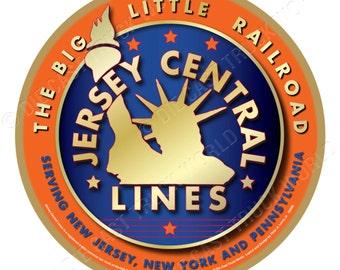 Jersey Central Railroad Orange Logo Wood Plaque / Sign