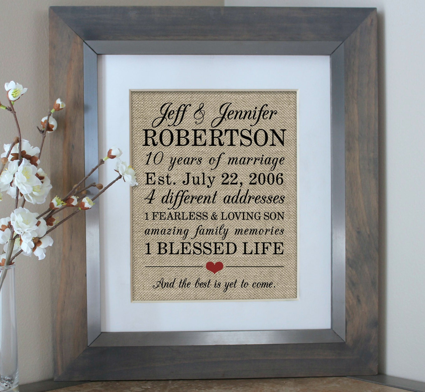 Gift Of Wedding Anniversary: 10 Year Anniversary Gift For Men 10th Wedding Anniversary
