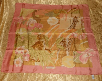 Genuine vintage Salvatore Ferragamo scarf - all silk