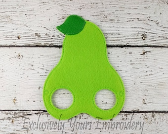 Pear Children's Felt Mask  - Costume - Theater - Dress Up - Halloween - Face Mask - Pretend Play - Party Favor