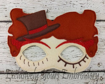 Crazy Hat Guy Children's Felt Mask  - Costume - Theater - Dress Up - Halloween - Face Mask - Pretend Play - Party Favor