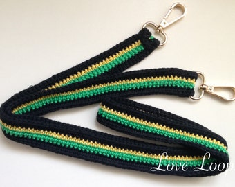 Bag strap, replacement bag strap, messenger bag strap, bag belt, handmade bag strap