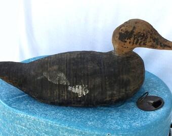 Flat Bottom Working Waterfowl Duck Decoy Antique Merganser