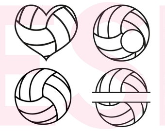 Volleyball svg, Monogram svg, SVG, DXF, EPS, svg files for use in Silhouette Studio and Cricut Design Space, For Commercial Use.