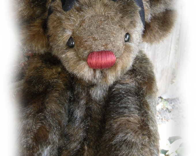 Featured listing image: Chatty - OOAK Artist Bear from BearFolk & Friends