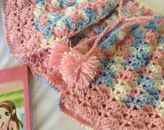 Cotton Candy Baby Shrug, handmade shrug