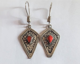 Silver Afghan Earrings