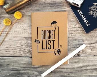 Bucket List Notebook - Brown Kraft