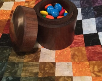 Woodturned Box Candy or Treasures