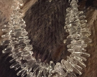 Vintage glass beaded two strand necklace