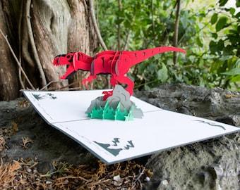 T-Rex Pop Up Birthday Card, Dinosaur Birthday Card, Pop Up T-Rex Card, Birthday Pop Up Card, Dinosaur Theme Birthday, Lovepop