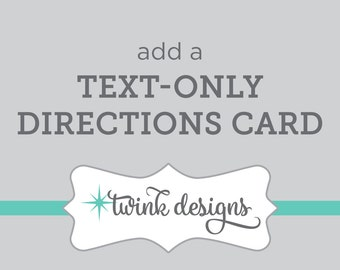 Add a Text Only Directions Card