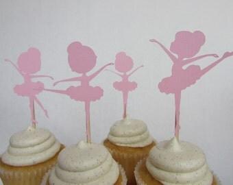 Ballerina girl cupcake toppers