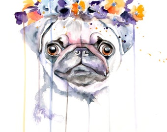 ORIGINAL CUSTOM PORTRAIT - pet, dog, cat, horse, animal original Watercolor Painting
