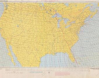 United States Isogonic Chart 1960