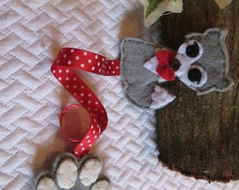 Wolf bookmark; felt bookmark; Planner accessories; Stocking stuffers; Christmas gift; Party favors; Gift for readers; Children's gift.