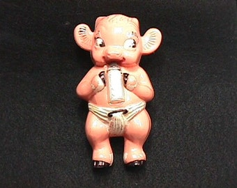 Vintage Irwin Toy Rattle Titled Borden's Elsie The Cow Plastic Rattle in Great Condition as-is